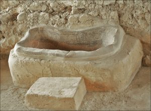 bathtub at Nestor's palace